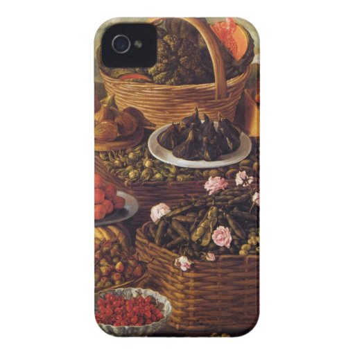 The Fruit Seller in detail by Vincenzo Campi iPhone 4 Cases