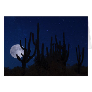 The Full Moon Rises over Tucson Card