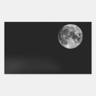 The Full Moon Rectangle Sticker