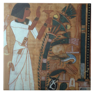 The Fumigation of Osiris, page from the Book of th Ceramic Tile