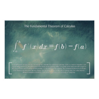 The Fundamental Theorem of Calculus - Math Poster