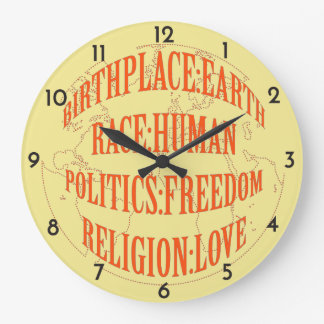 The Fundamentals of Life - Red or Blue Graphic Wallclock