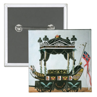 The Funeral of Lord Nelson  on 9th January 1806 15 Cm Square Badge