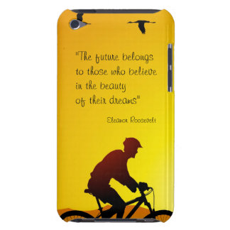 The future belongs to those who believe Roosevelt Barely There iPod Case