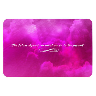The future depends on what we do in the present vinyl magnet