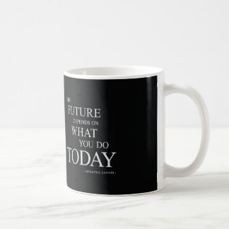 The Future Inspirational Motivational Quote Basic White Mug
