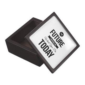 The Future Inspiring Quote White Premium Keepsake Boxes