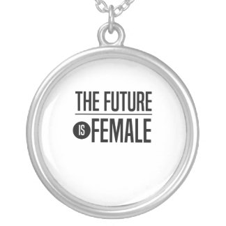 The Future is Female Silver Plated Necklace