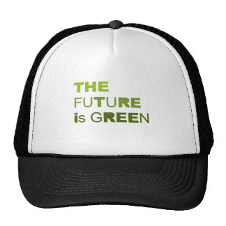 The future is green solid trucker hats