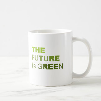 The future is green solid mug