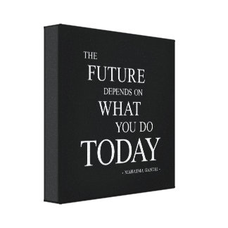 The Future Motivational Quote Wall Art Canvas