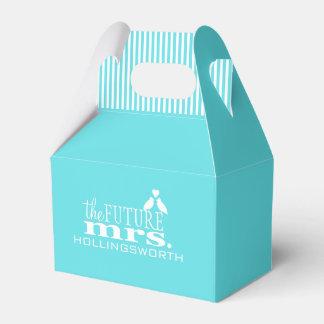 The Future Mrs.-Blue Wedding Favour Box