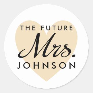 The Future Mrs. Classic Round Sticker