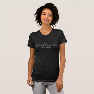 The Future Mrs. (Name) White Modern Script T-Shirt