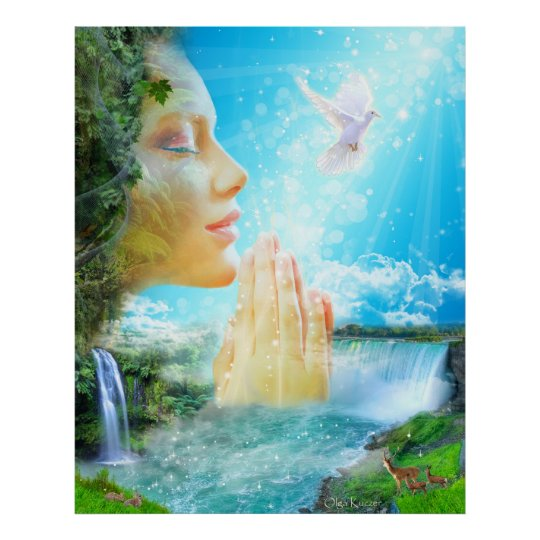 The Gaia - the spirit of the living Earth Poster