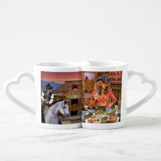 The Gambler vs the Gamblin' Cowgirl Coffee Mug Set