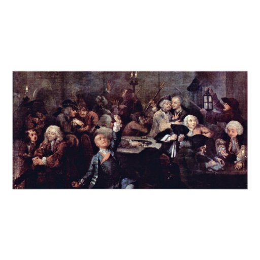 "The Gambling Den "" By Hogarth William Custom Photo Card"
