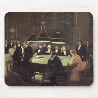 The Gaming Room at the Casino, 1889 Mouse Pad