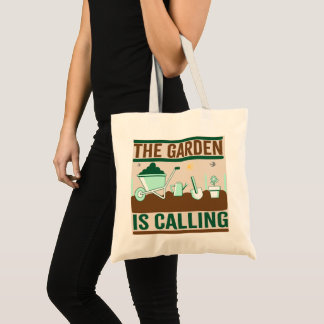 The Garden Is Calling Budget Tote Bag