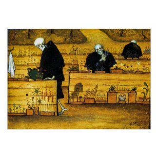The Garden of Death by Hugo Simberg 1896 Poster