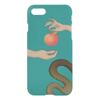 The Garden Of Eden Apple Adam Eve Snake Blue Hands iPhone 8/7 Case