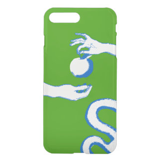 The Garden Of Eden Sketch Apple Adam Eve Green iPhone 8 Plus/7 Plus Case