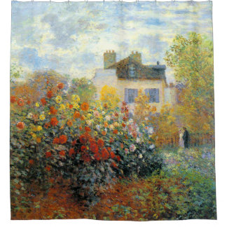 The Garden of Monet at Argenteuil Fine Art Shower Curtain