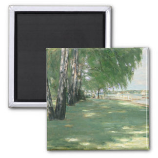 The Garden of the Artist in Wannsee, 1918 Square Magnet