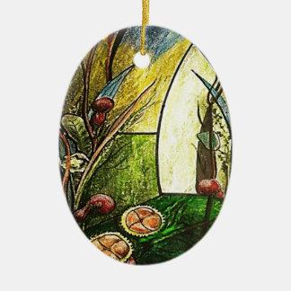 The GARDEN OF the EDEN_result.JPG Ceramic Ornament