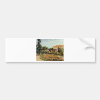 The Garden of the Hotel Berneval by Camille Pissar Bumper Sticker