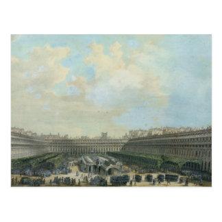 The Garden of the Palais Royal, 1791 Postcard