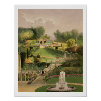 The Garden on the Hill Side, Castle Combe, from 'T Poster