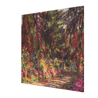 The Garden Path at Giverny Canvas Print