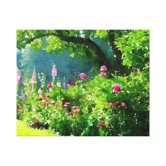 The Garden Stretched Canvas Print