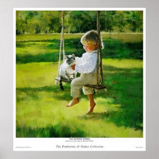The Garden Swing Print