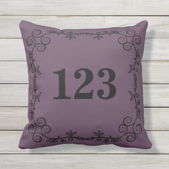 The Garden Vine Collection: Custom House Number Outdoor Cushion