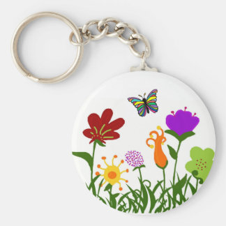 The Garden with a butterfly key chain