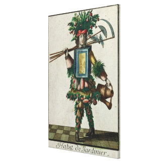 The Gardener's Costume Stretched Canvas Print