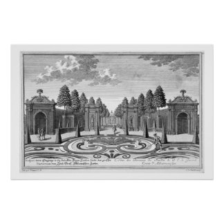 The gardens of Count Althan, Vienna, from 'Vorstel Poster