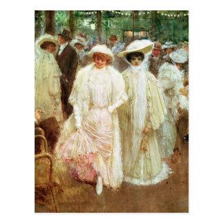 The Gardens of Paris Postcard
