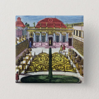 The Gardens of the Mirabelle Park, Salzburg, Austr 15 Cm Square Badge