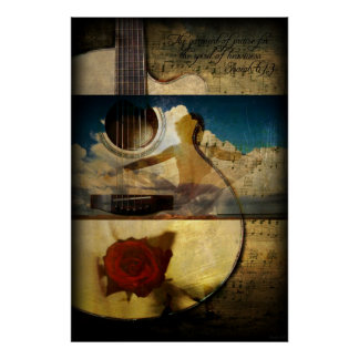 The Garment of Praise (Guitar Poster) Poster