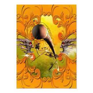 The gate in the paradise 13 cm x 18 cm invitation card