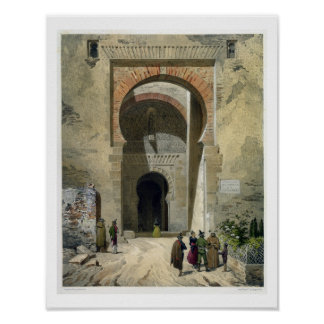 The Gate of Justice, entrance to the Alhambra, Gra Poster