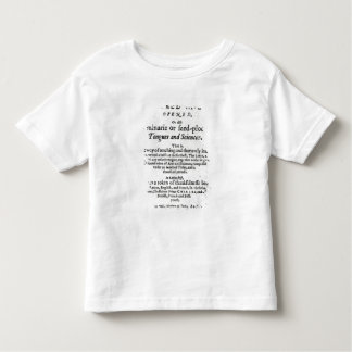 The Gate of Tongues Unlocked', 1631 Toddler T-Shirt