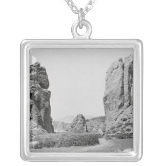 The Gateway and Pike's Peak Silver Plated Necklace
