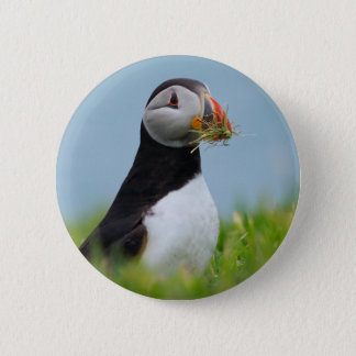 The Gatherer Puffin 6 Cm Round Badge