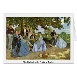 The Gathering, By Frederic Bazille Card