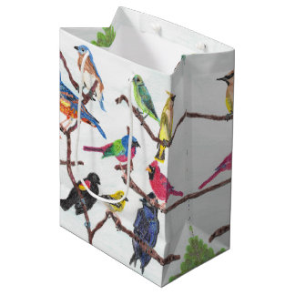 The Gathering Colorful Songbirds Medium Gift Bag