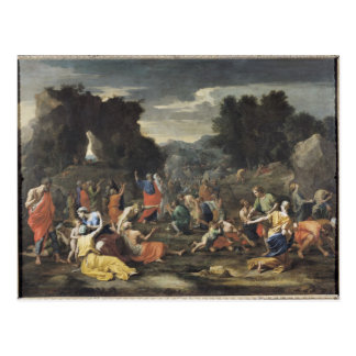 The Gathering of Manna, c.1637-9 Postcard